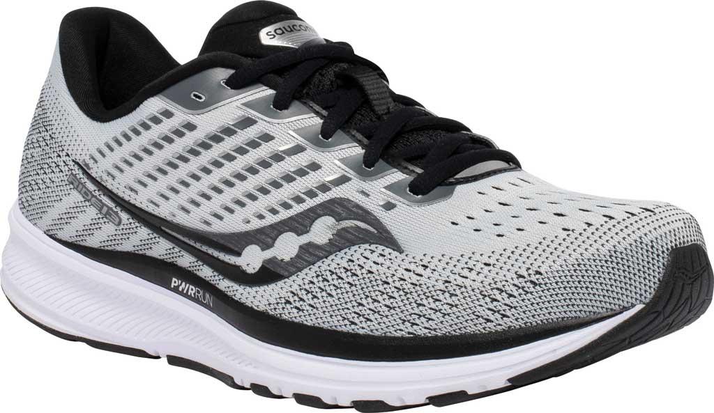 Men's Saucony Ride 13 Running Sneaker, Alloy/Black, large, image 1