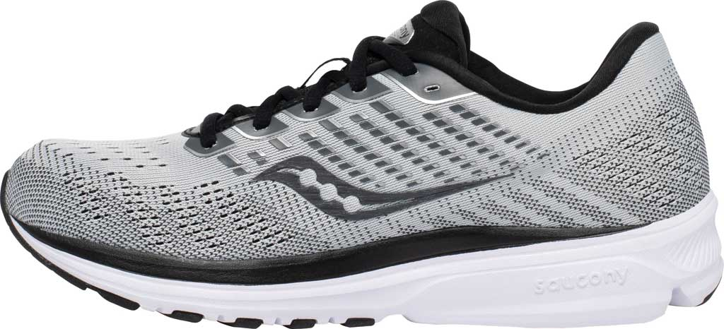 Men's Saucony Ride 13 Running Sneaker, Alloy/Black, large, image 3