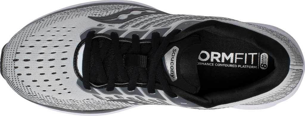 Men's Saucony Ride 13 Running Sneaker, Alloy/Black, large, image 4