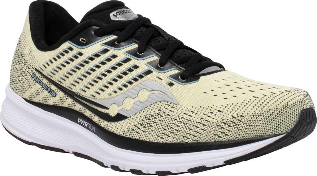 Men's Saucony Ride 13 Running Sneaker, Glade/Black, large, image 1