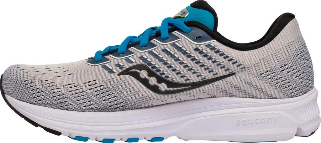 Men's Saucony Ride 13 Running Sneaker, Stone/Cobalt, large, image 3