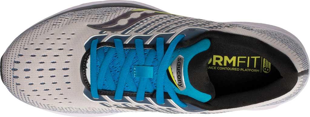 Men's Saucony Ride 13 Running Sneaker, Stone/Cobalt, large, image 4