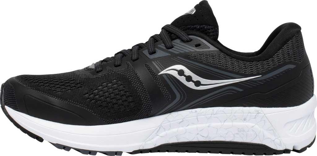 Men's Saucony Omni 19 Running Sneaker, Black/White, large, image 3