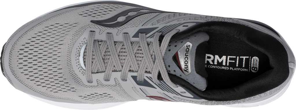 Men's Saucony Omni 19 Running Sneaker, Alloy/Brick, large, image 4