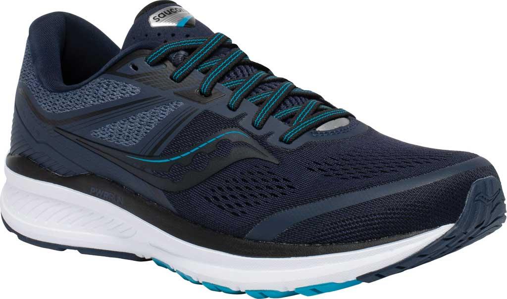 Men's Saucony Omni 19 Running Sneaker, Indigo/Ocean, large, image 1