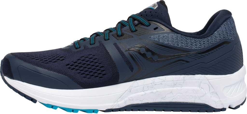 Men's Saucony Omni 19 Running Sneaker, Indigo/Ocean, large, image 3