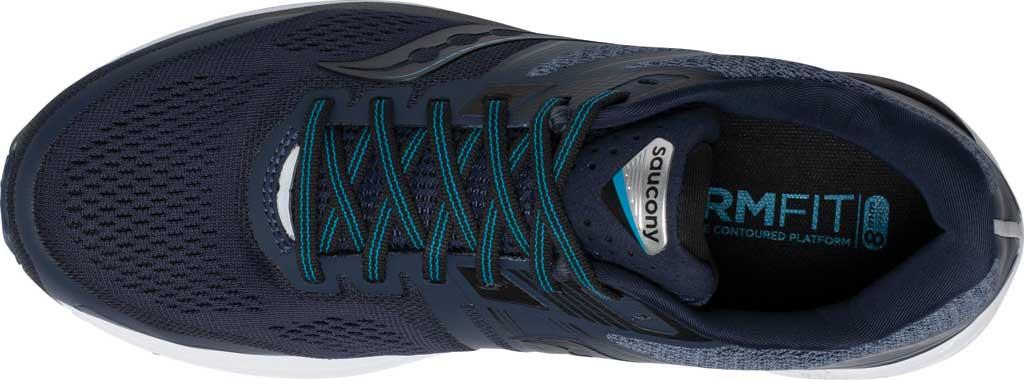 Men's Saucony Omni 19 Running Sneaker, Indigo/Ocean, large, image 4