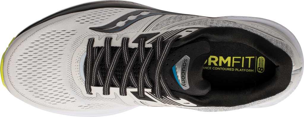 Men's Saucony Omni 19 Running Sneaker, Fog/Citrus, large, image 4