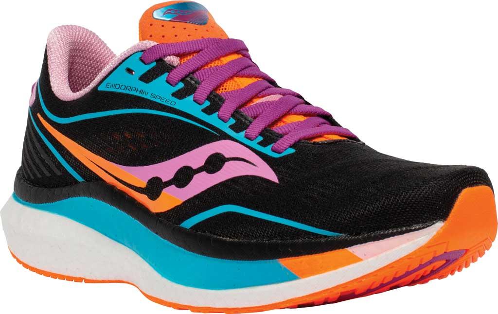 Women's Saucony Endorphin Speed Running Sneaker, Future/Black, large, image 1