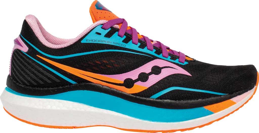 Women's Saucony Endorphin Speed Running Sneaker, Future/Black, large, image 2