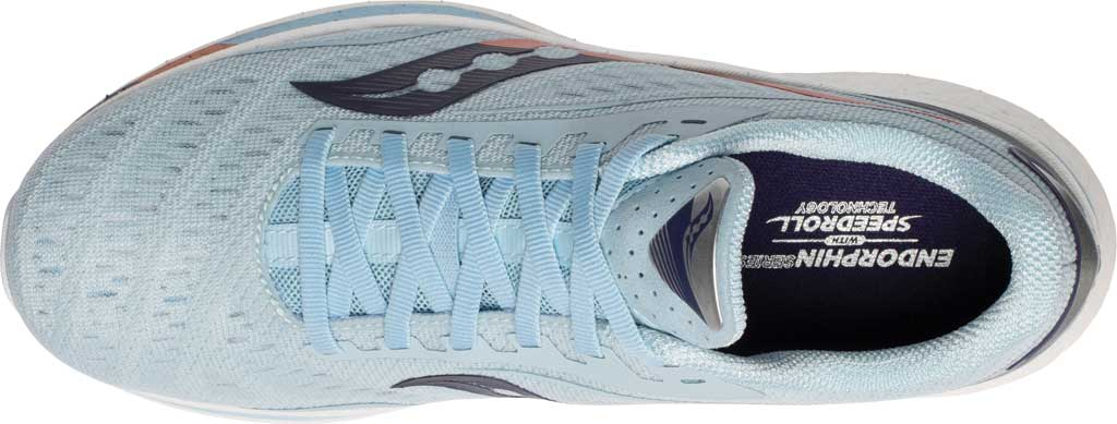 Women's Saucony Endorphin Speed Running Sneaker, Sky/Midnight, large, image 4