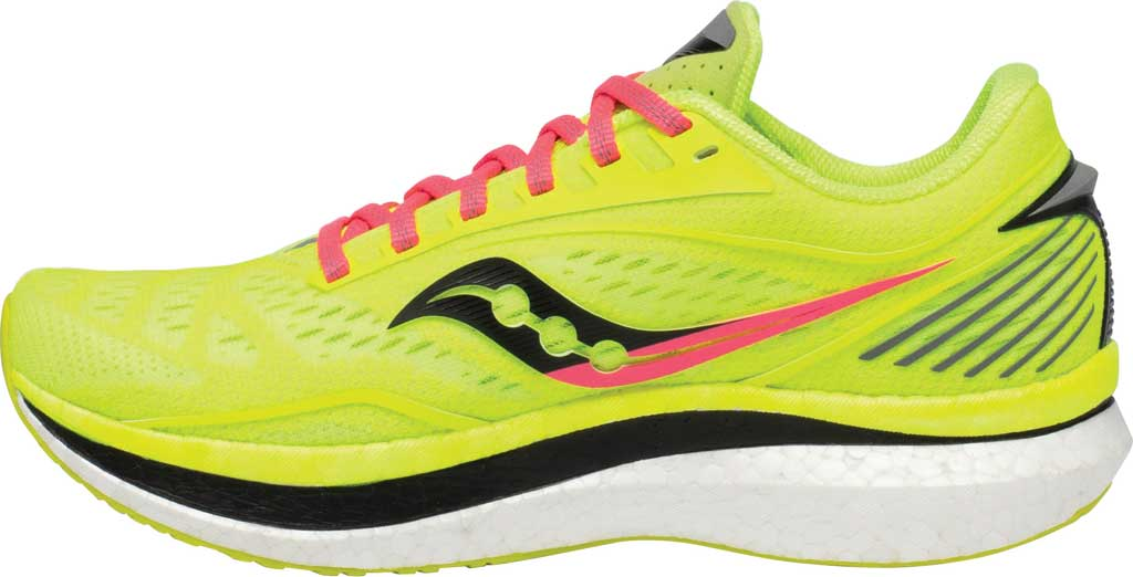 Women's Saucony Endorphin Speed Running Sneaker, Citron, large, image 3