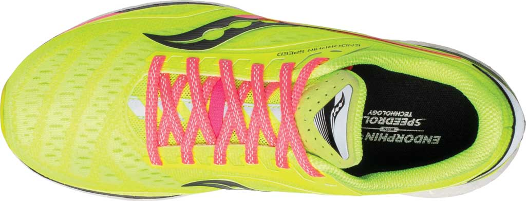 Women's Saucony Endorphin Speed Running Sneaker, Citron, large, image 4