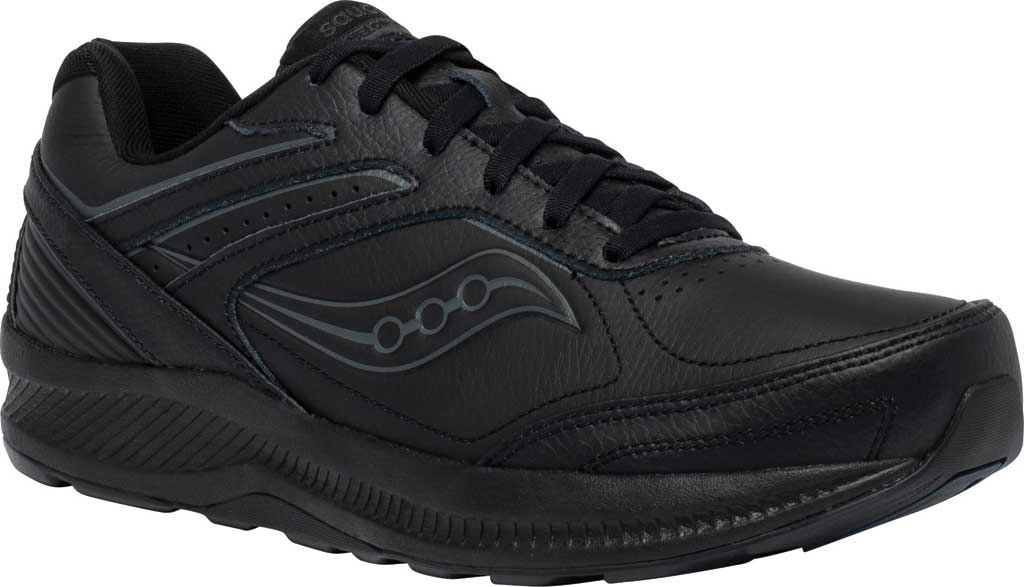 Men's Saucony Echelon Walker 3 Walking Sneaker, Black, large, image 1