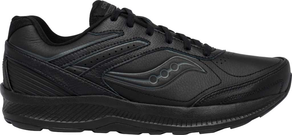 Men's Saucony Echelon Walker 3 Walking Sneaker, Black, large, image 2