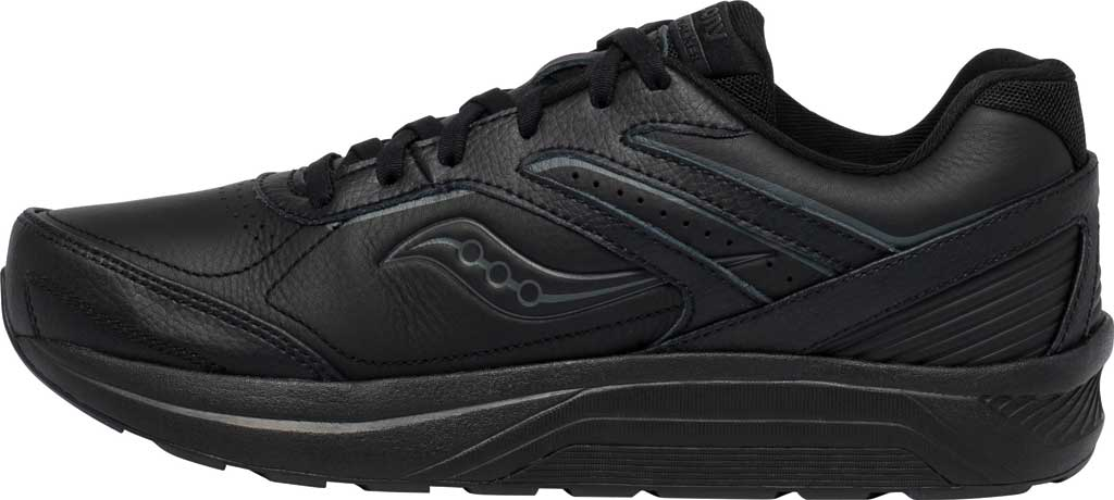 Men's Saucony Echelon Walker 3 Walking Sneaker, Black, large, image 3