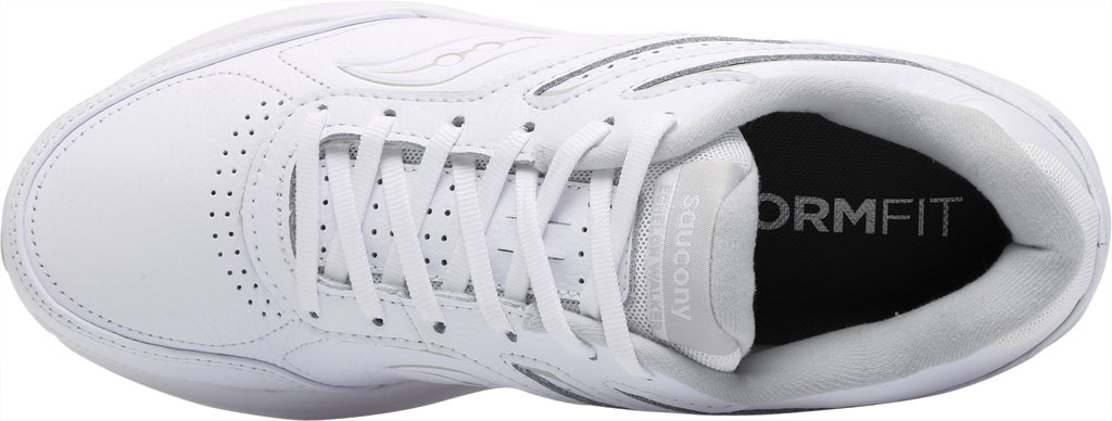 Men's Saucony Echelon Walker 3 Walking Sneaker, White, large, image 5