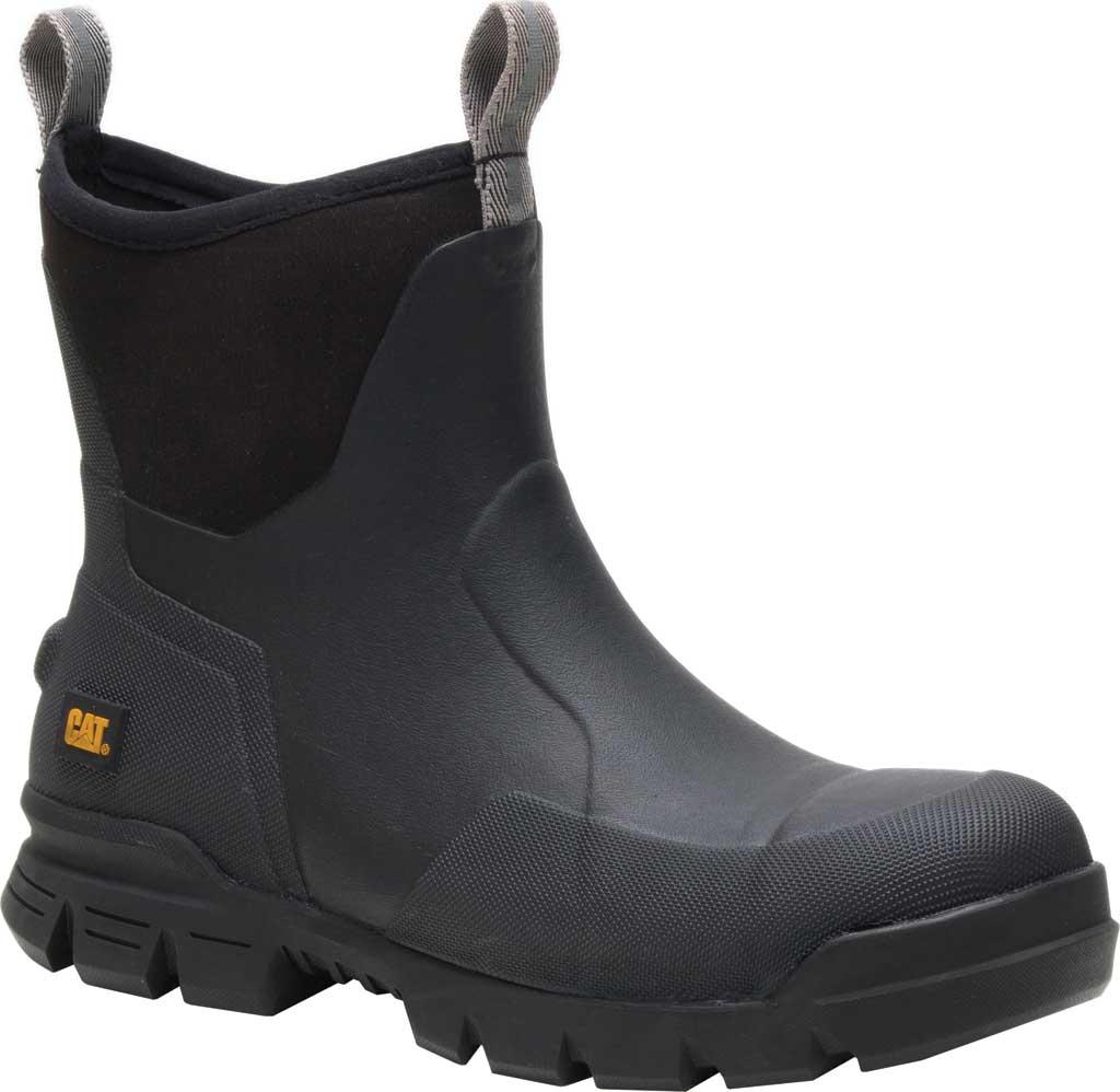 "Caterpillar Stormers 6"" Waterproof Work Boot, Black Waterproof Vulcanized Rubber, large, image 1"