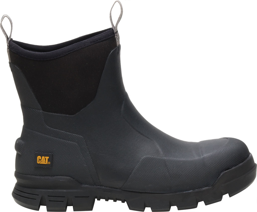 "Caterpillar Stormers 6"" Waterproof Work Boot, Black Waterproof Vulcanized Rubber, large, image 2"