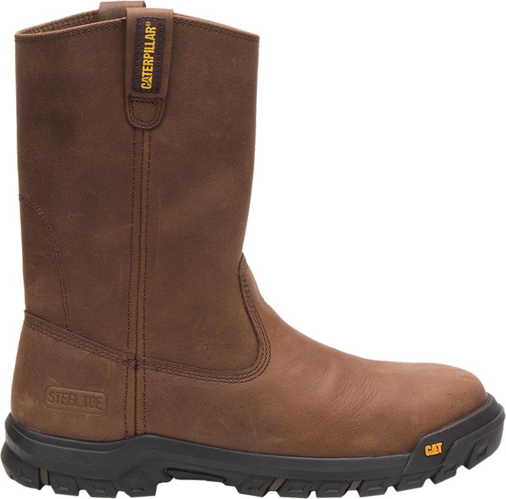 Men's Caterpillar Drawbar Steel Toe Pull On Work Boot, Summer Brown Leather, large, image 2