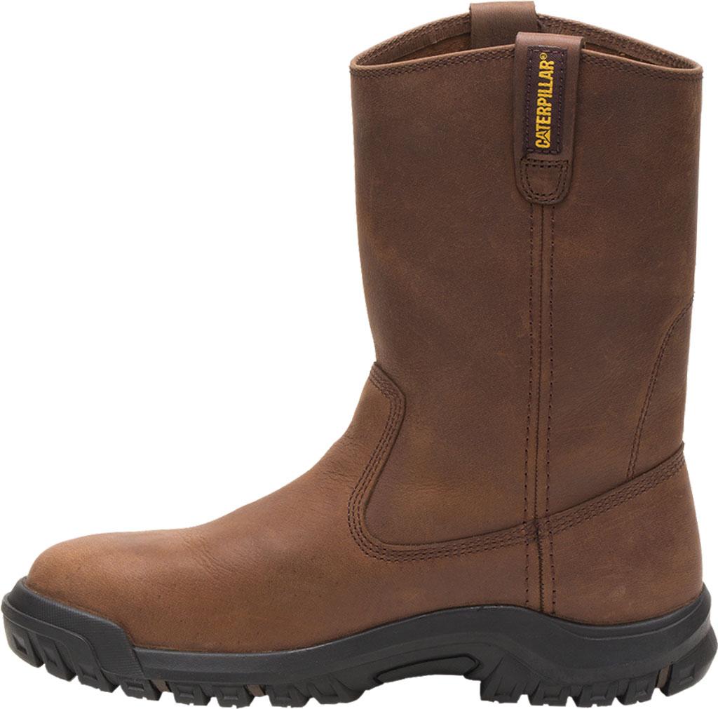 Men's Caterpillar Drawbar Steel Toe Pull On Work Boot, Summer Brown Leather, large, image 3