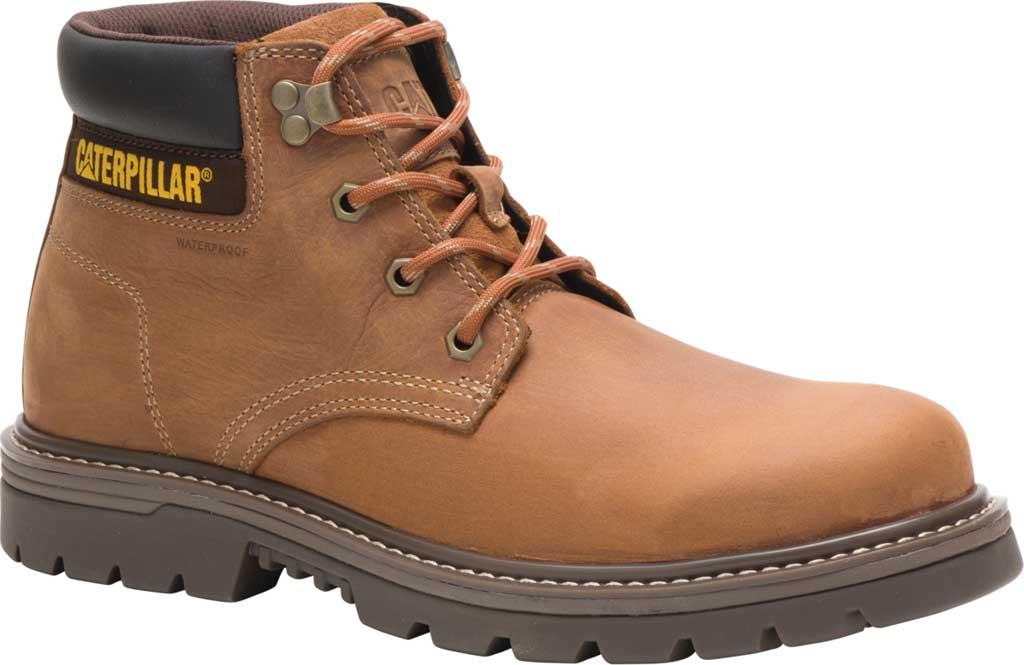 Men's Caterpillar Outbase Waterproof Work Boot, Brown Waterproof Full Grain Leather, large, image 1