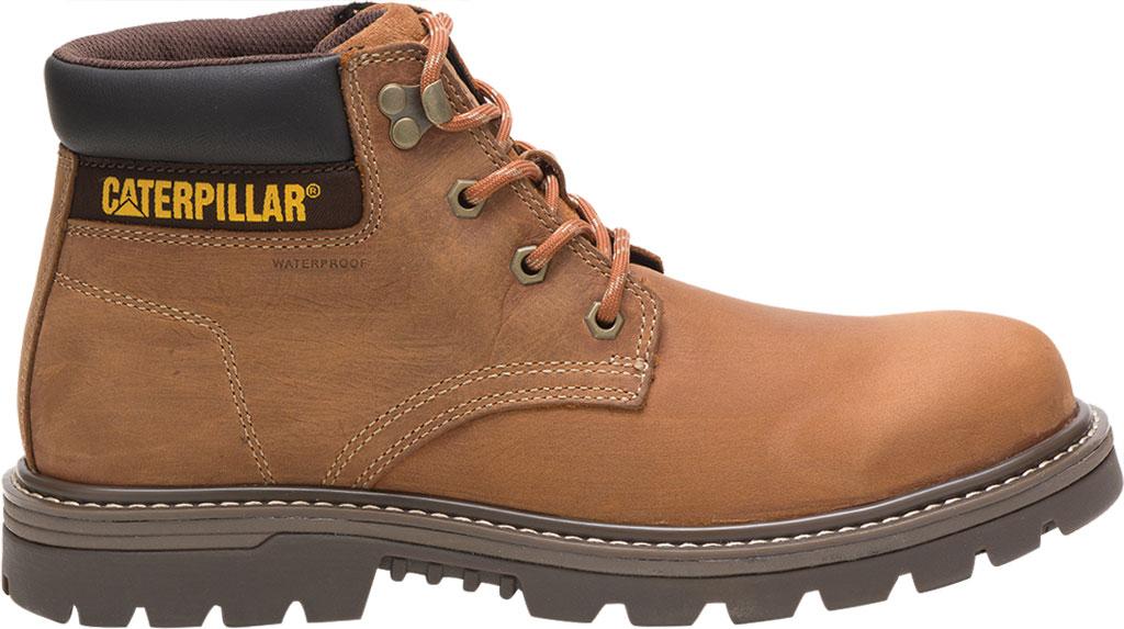 Men's Caterpillar Outbase Waterproof Work Boot, Brown Waterproof Full Grain Leather, large, image 2
