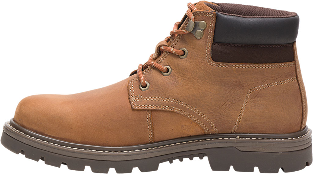 Men's Caterpillar Outbase Waterproof Work Boot, Brown Waterproof Full Grain Leather, large, image 3