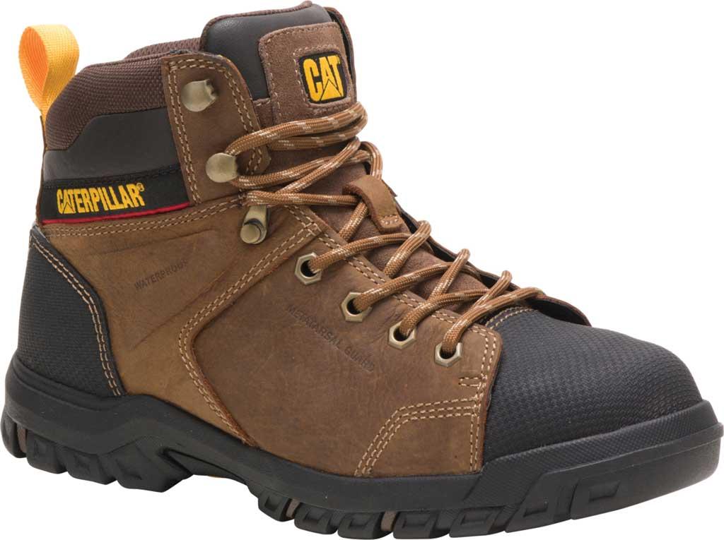 Women's Caterpillar Wellspring Waterproof Steel Toe Work Boot, Real Brown Waterproof Full Grain Leather, large, image 1