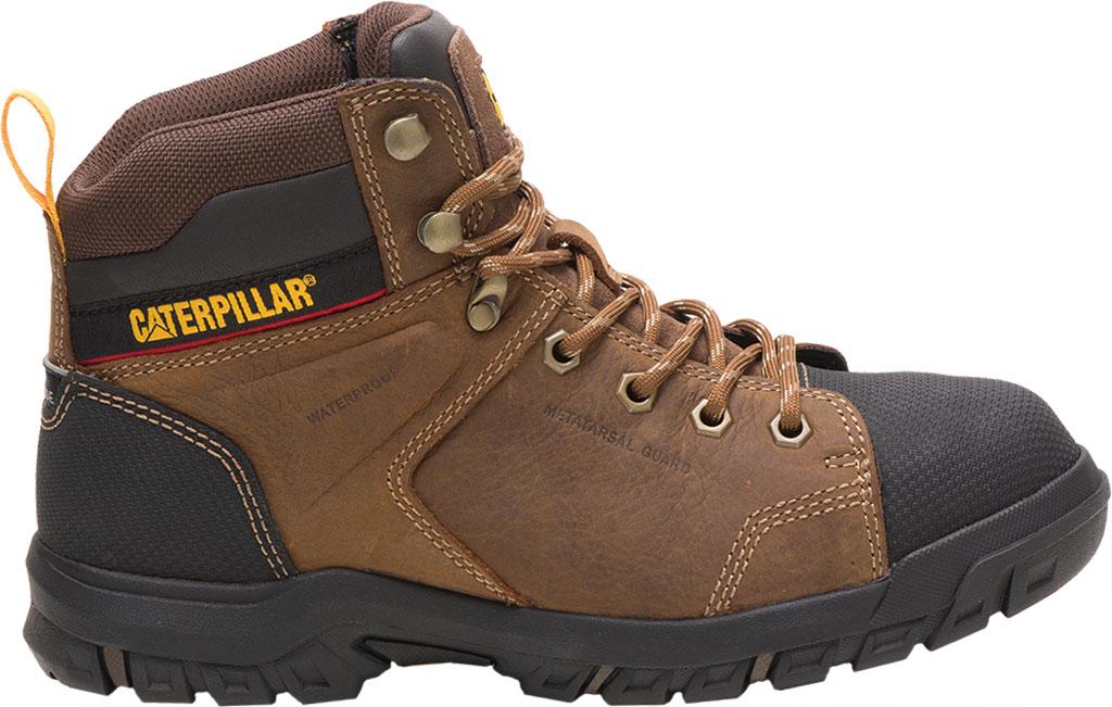 Women's Caterpillar Wellspring Waterproof Steel Toe Work Boot, Real Brown Waterproof Full Grain Leather, large, image 2