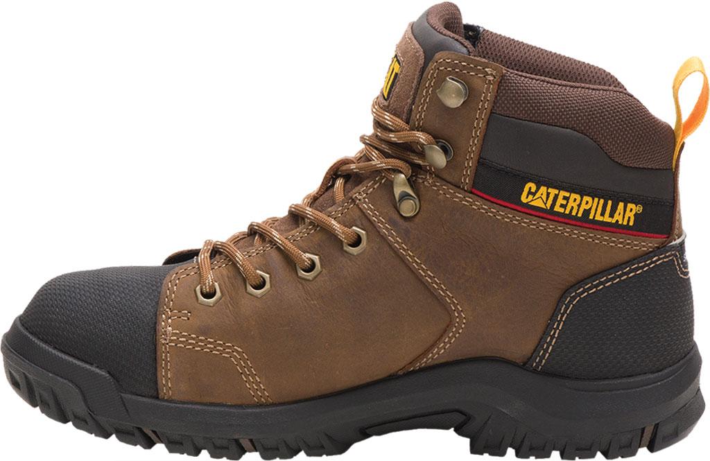 Women's Caterpillar Wellspring Waterproof Steel Toe Work Boot, Real Brown Waterproof Full Grain Leather, large, image 3