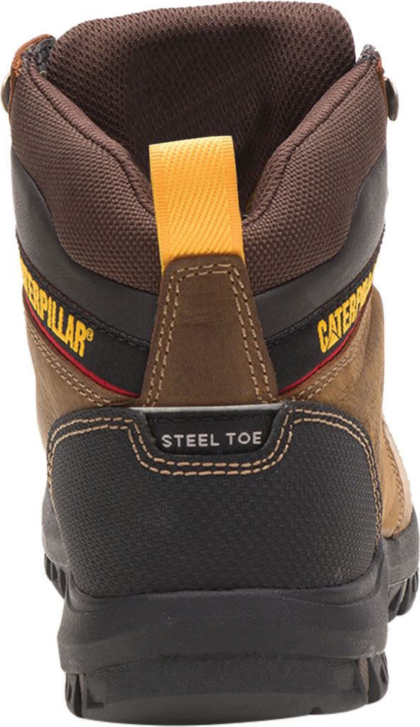 Women's Caterpillar Wellspring Waterproof Steel Toe Work Boot, Real Brown Waterproof Full Grain Leather, large, image 4