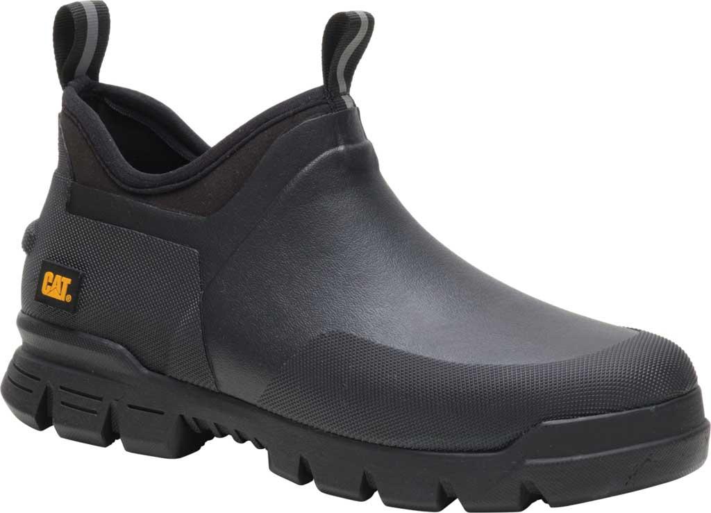 Caterpillar Stormers Waterproof Work Shoe, Black/Black Waterproof Vulcanized Rubber, large, image 1