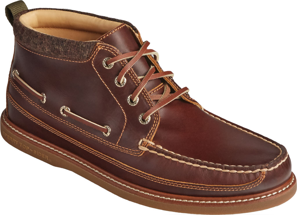 Men's Sperry Top-Sider Gold Cup Authentic Original Moc Toe Boot, Tan Full Grain Leather, large, image 1