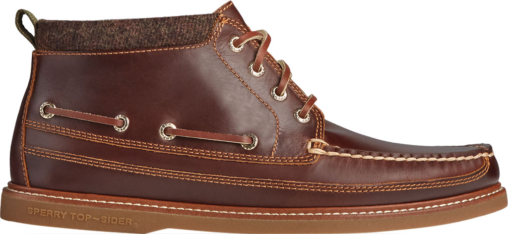Men's Sperry Top-Sider Gold Cup Authentic Original Moc Toe Boot, Tan Full Grain Leather, large, image 2