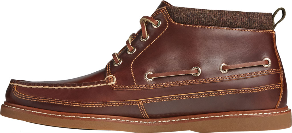 Men's Sperry Top-Sider Gold Cup Authentic Original Moc Toe Boot, Tan Full Grain Leather, large, image 3