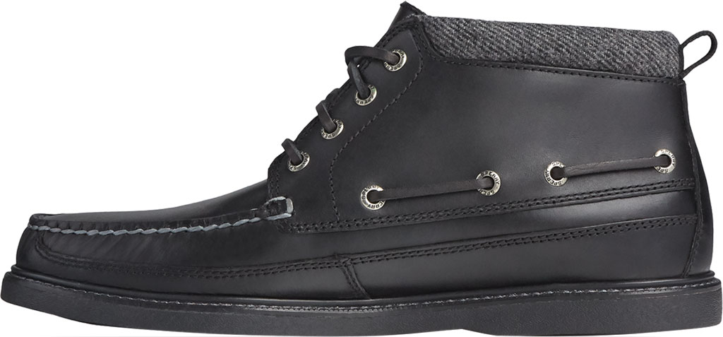 Men's Sperry Top-Sider Gold Cup Authentic Original Moc Toe Boot, Black/Black Full Grain Leather, large, image 3
