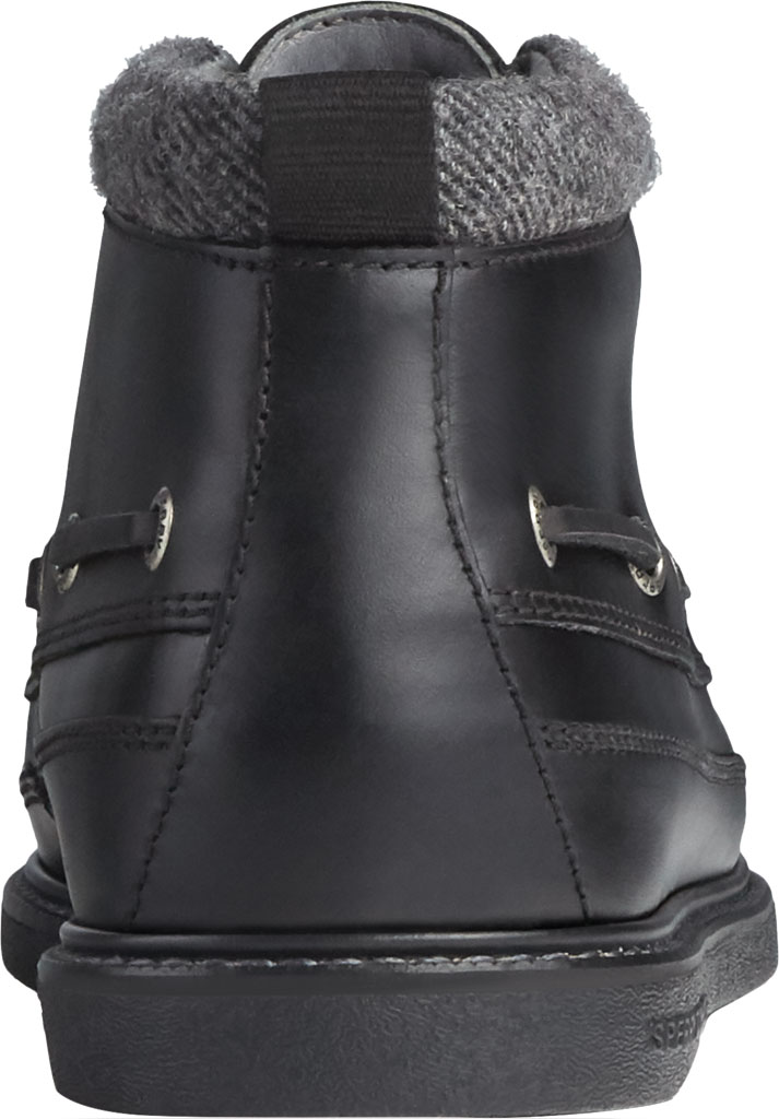 Men's Sperry Top-Sider Gold Cup Authentic Original Moc Toe Boot, Black/Black Full Grain Leather, large, image 4