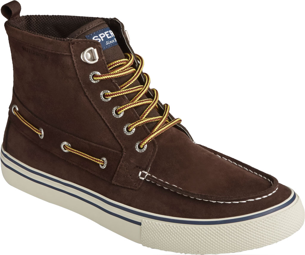 Men's Sperry Top-Sider Bahama Storm Waterproof High Top, Brown/Khaki Leather/Suede, large, image 1