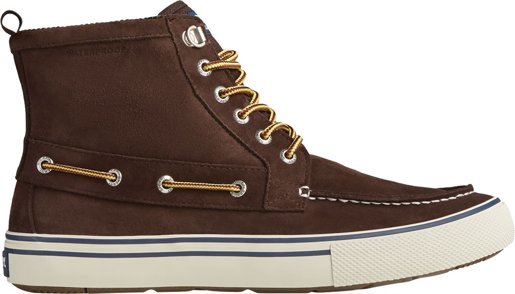 Men's Sperry Top-Sider Bahama Storm Waterproof High Top, Brown/Khaki Leather/Suede, large, image 2