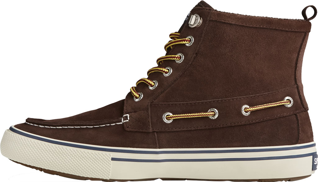 Men's Sperry Top-Sider Bahama Storm Waterproof High Top, Brown/Khaki Leather/Suede, large, image 3