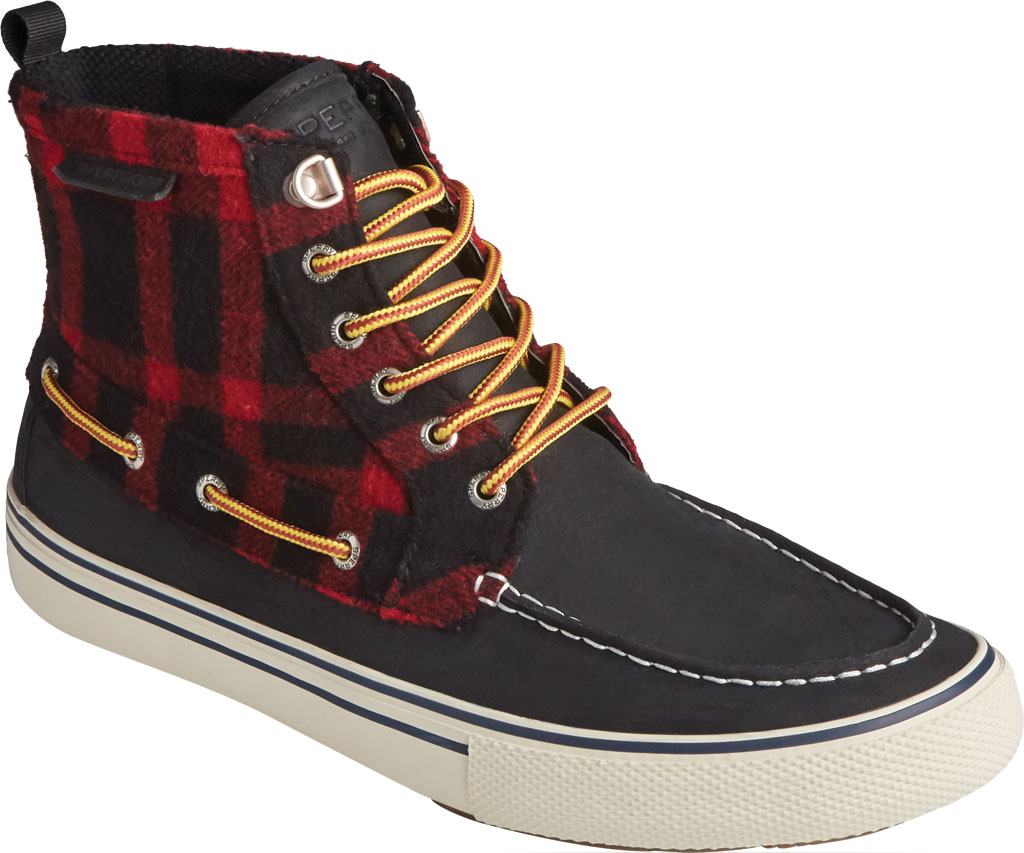 Men's Sperry Top-Sider Bahama Storm Waterproof High Top, Buff Check Leather/Suede, large, image 1