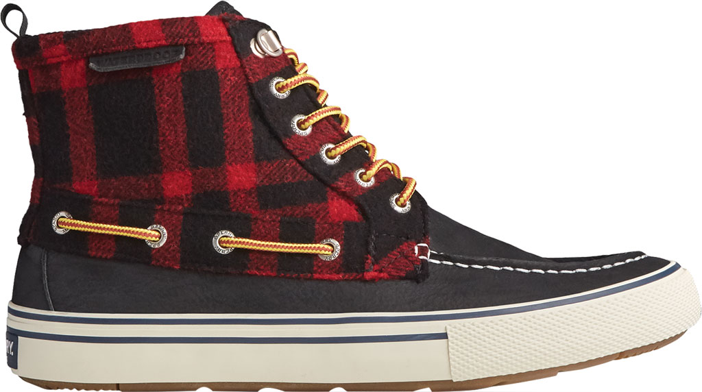 Men's Sperry Top-Sider Bahama Storm Waterproof High Top, Buff Check Leather/Suede, large, image 2