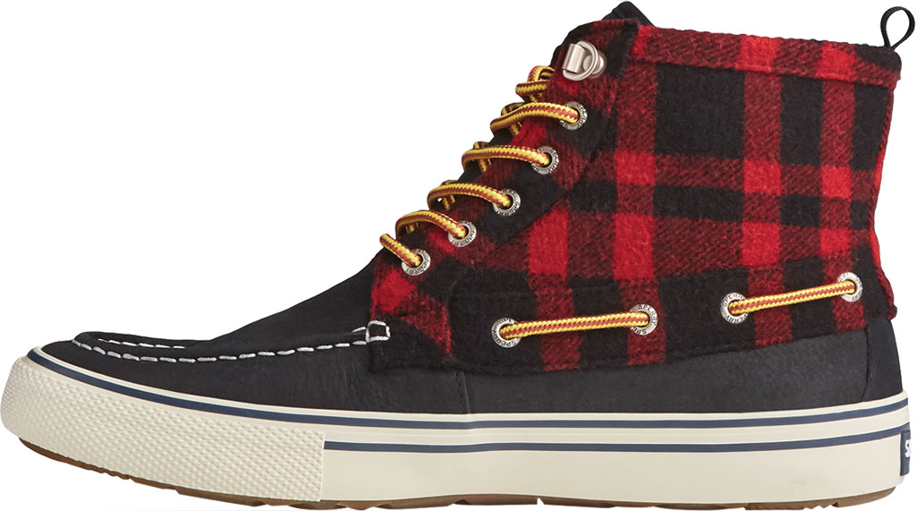 Men's Sperry Top-Sider Bahama Storm Waterproof High Top, Buff Check Leather/Suede, large, image 3