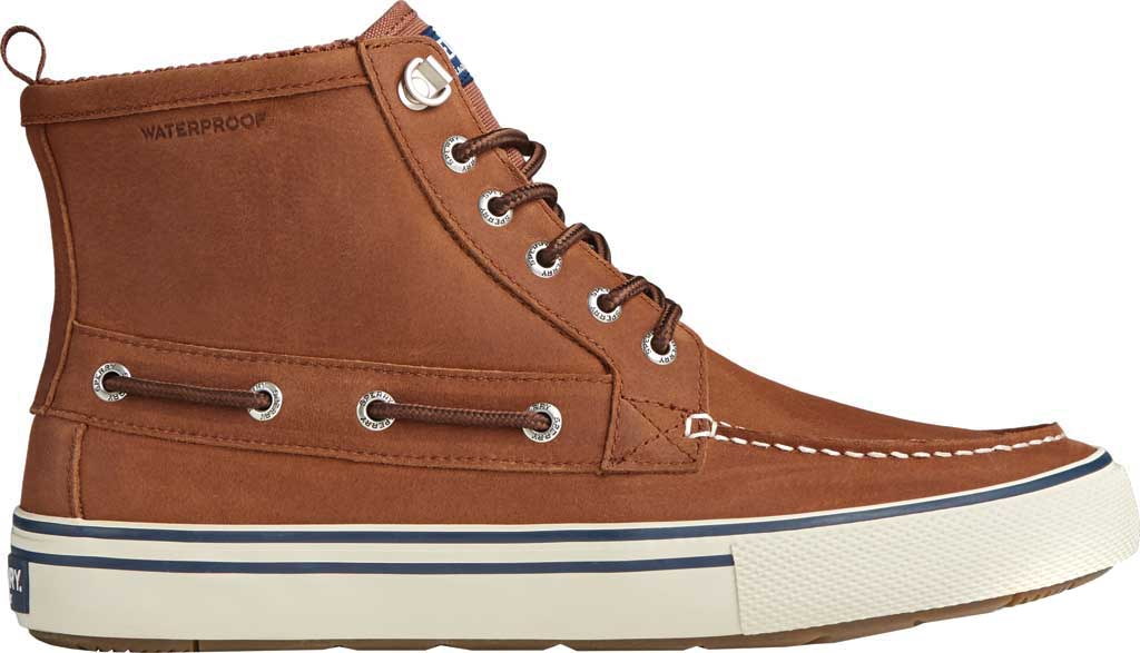 Men's Sperry Top-Sider Bahama Storm Waterproof High Top, Tan/White Leather/Suede, large, image 2