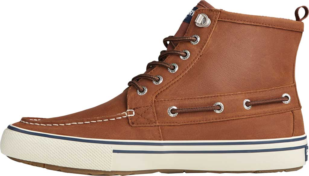Men's Sperry Top-Sider Bahama Storm Waterproof High Top, Tan/White Leather/Suede, large, image 3