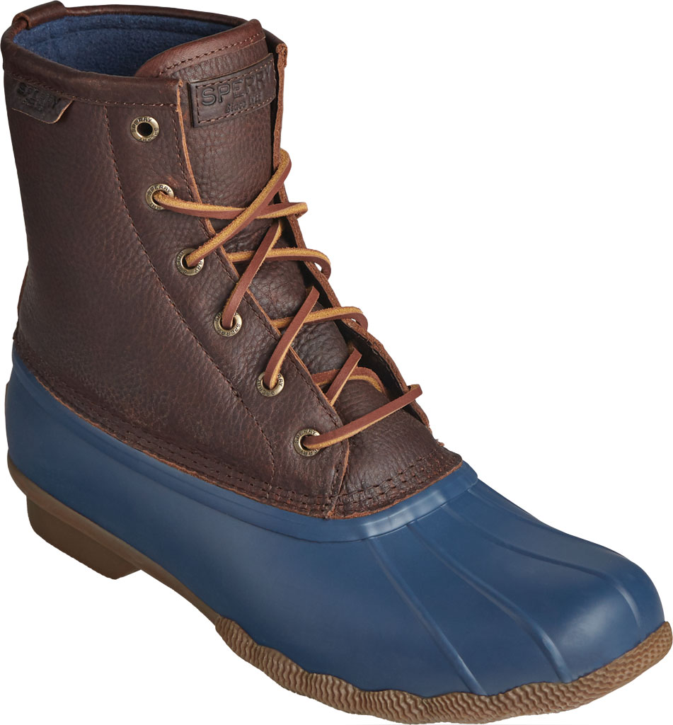 Men's Sperry Top-Sider Saltwater Duck Boot, Brown/Navy Leather/Rubber, large, image 1