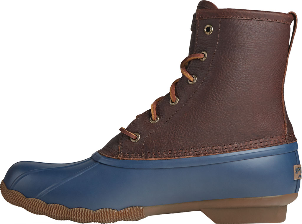 Men's Sperry Top-Sider Saltwater Duck Boot, Brown/Navy Leather/Rubber, large, image 3