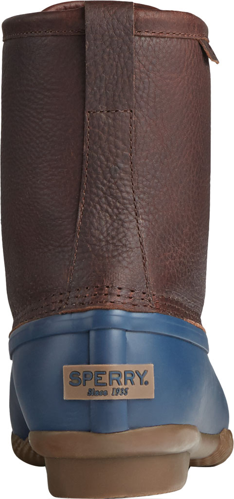 Men's Sperry Top-Sider Saltwater Duck Boot, Brown/Navy Leather/Rubber, large, image 4