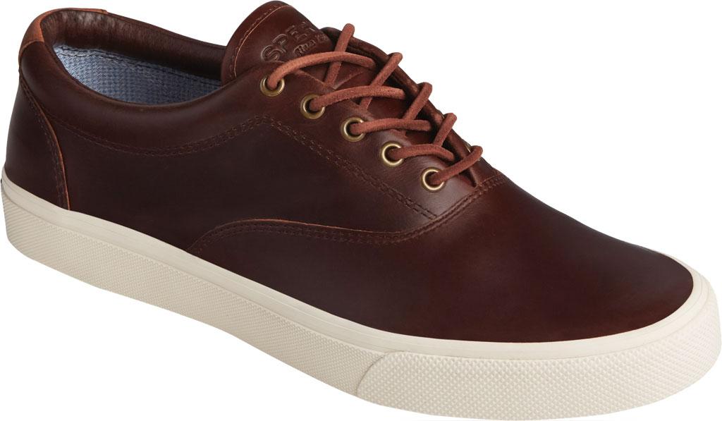 Men's Sperry Top-Sider Striper PLUSHWAVE CVO Sneaker, Dark Brown Full Grain Leather, large, image 1